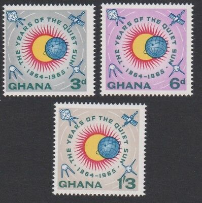 Ghana International Quiet Sun Years 3v MNH SG#332-334