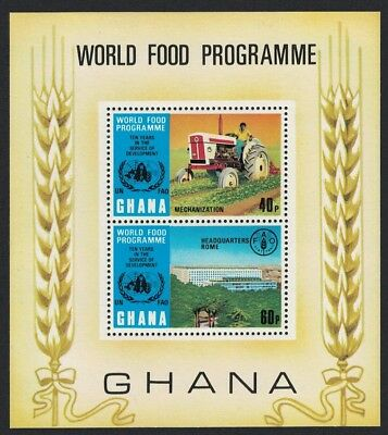 Ghana Tractor 10th Anniversary of World Food Programme MS MNH SG#MS681