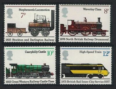 Great Britain 150th Anniversary of Public Railways 4v MNH SG#984-987