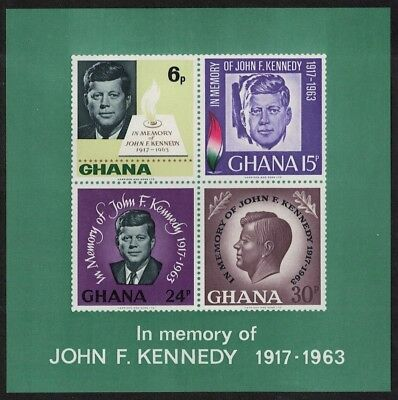 Ghana 2nd Death Anniversary of President Kennedy MS MNH SG#MS407