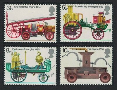 Great Britain Bicentenary of Fire Prevention Metropolis Act 4v MNH SG#950-953