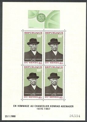 Senegal Chancellor Adenauer Commemoration MS MNH SG#MS369 SC#C61a