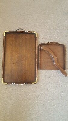 Edwardian antique crumb tray with brush also a serving tray.