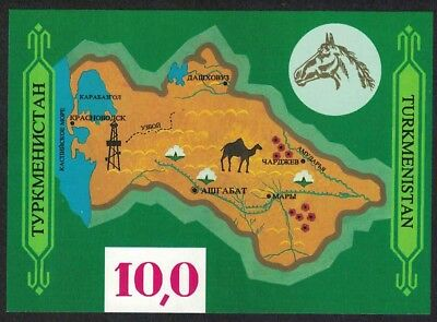 Turkmenistan Horse Camel Gas Map History and Culture MS MNH SG#MS10 SC#9