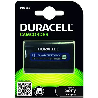 Duracell Sony NP-QM7 Camcorder Battery DR9599 New