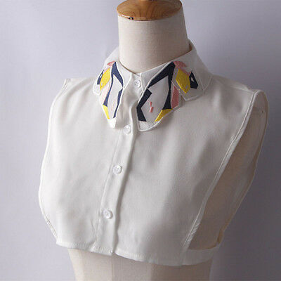 Women Ladies Butterfly False Collar Half Shirt Blouse Detachable Collar Bib 6A