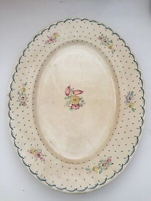 Susie Cooper Hand Painted Flower And Specks Plate - Cream, Pale Blues, Pinks