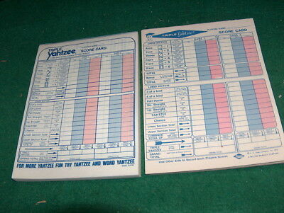 63 Triple Yahtzee Score Sheets Pads Cards