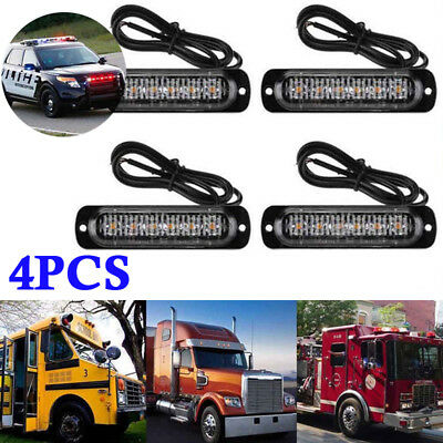 2018 6LED 18W Blue Ultra Slim Car Truck Warning Hazard Flash Strobe Light & Lamp