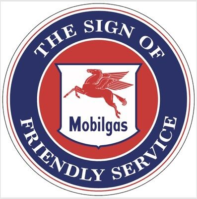 Mobil Oil Mobilgas Service gasoline vintage Style advertising sign