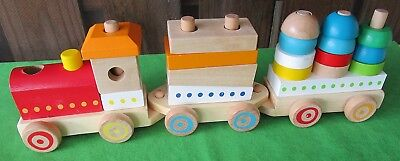 Imaginarium Toys R Us Wooden Stacking Train 22 Pieces