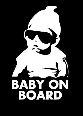 Baby On Board Car Window Vinyl Decal Sticker 02021 Funny Humor Hangover