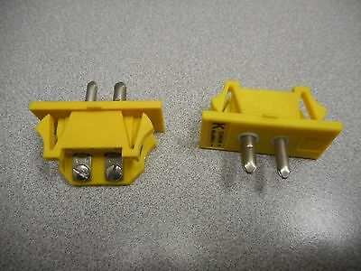 Omega Engineering Spj-K-M Connector,thermocouple Type K Male (Lot Of 2)