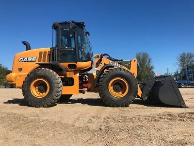 2017 Case 521F Wheel Loader REMAINING WARRANTY Cab AC Rubber Tire Diesel Tractor