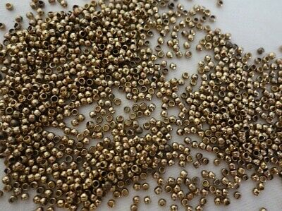 300 Round Crimps 1.5mm Antique Gold Coloured #2063 Jewellery Making Findings