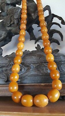 HUGE ! RARE ! 135 gr!!!!.   41 Beads NATURAL BALTIC AMBER 琥珀
