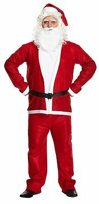 Mens Fancy Christmas Party 5 Pieces Santa Costume Adults Dress Party Wear Outfit