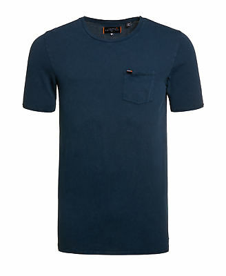 New Mens Superdry Factory Second Destroy Longline T-shirt Navy
