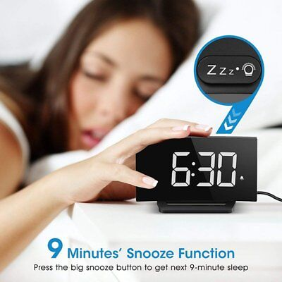 Mpow 3.75'' Digital LED Clock Alarm Clock Large Display for Bedroom Home Office
