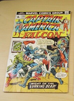 Captain America And The Falcon Comic 1973 No 166 Marvel