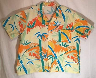 Vintage 80s/90s Abstract Graphic Hawaiian Shirt Saved By The Bell Men's Size XL