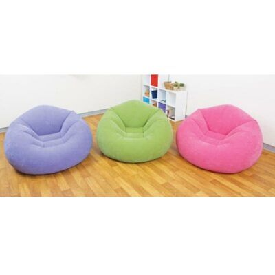 INTEX Beanless Bag Chair violett 107x104x69cm Sitzsack Sessel Sack Aufblasbar