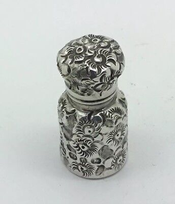 Victorian Sterling Silver Scent Bottle 1892