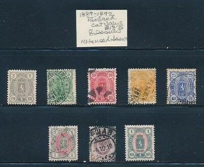 Own Part Of Finland Stamp History 8 Issues Cat $18.75  Shown