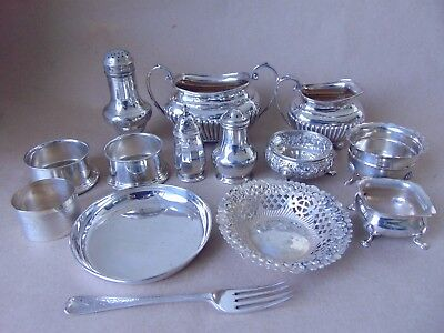 Quality Job Lot Sterling Silver 925 For Use, Re-Sell, Scrap Or Repair, Georgian
