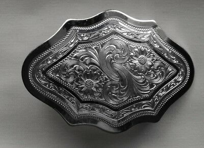 Ladies  Silver Plate Belt Buckle By Montana Silversmith's