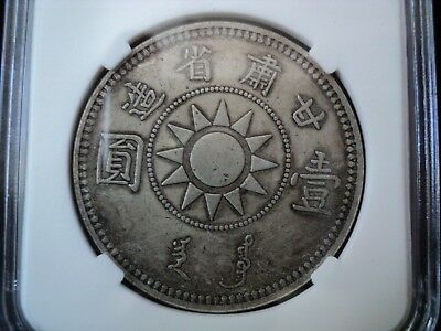 Ancient China Genuine Dollar Coin Very Rare Old Chinese Silver Cash-17