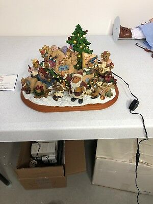 Boyds Bears Christmas Sleigh-Boyds Bears Danbury Mint Exclusive