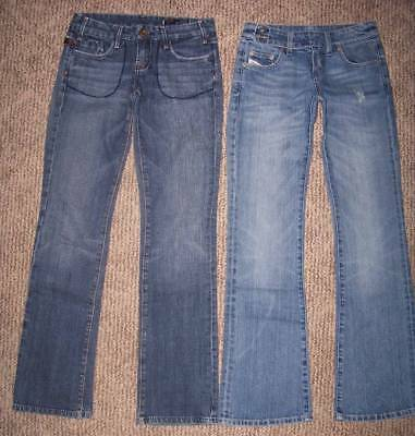 VIGOSS STUDIO & DIESEL DISTRESSED JEAN LOT (2pr) WOMENS Size 25
