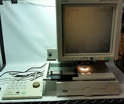 Canon Microfilm Scanner 350 II With Roll/Fiche Carrier 200