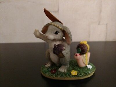 Charming Tails Figurine Indian Imposter  Thanksgiving Rabbit Perfect!!