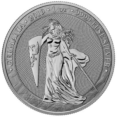 2019 Germania 5 Mark 1 Oz .9999 Silver Coin First Release
