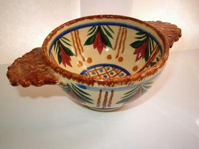 vintage Quimper Brittany French Faience pottery porringer bowl