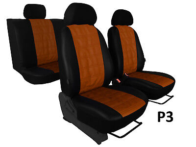 Eco Leather Embossed Tailored Seat Covers For Ford S-Max Mk1 2006-2015 5 Seats