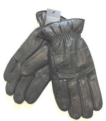 New Perrin Mens Genuine Leather Gloves Fall Winter Driving Warm Christmas Gift