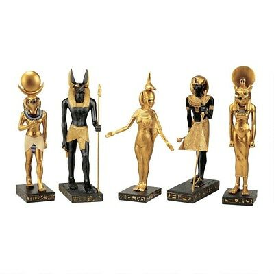 The Gods of Ancient Egypt Collection: Set of 5 Anubis Serqet Tut Horus Sekhmet