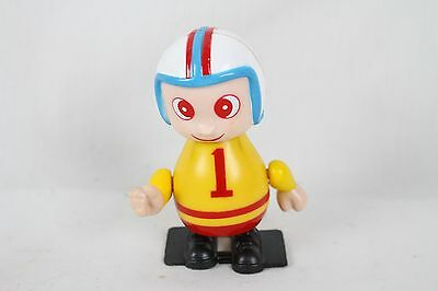 Vintage Football Player #1 Sport Windup Toy Rare Old Spinning Arms Yellow