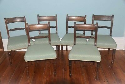 Antique Regency Rope-back Mahagony Dining Chairs