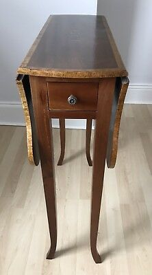 Antique/Edwardian Small Drop Leaf Table With Drawer