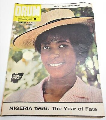 Vintage DRUM Africa's Leading Magazine Jan 1967 Nigeria Year Of Fate Free S/H