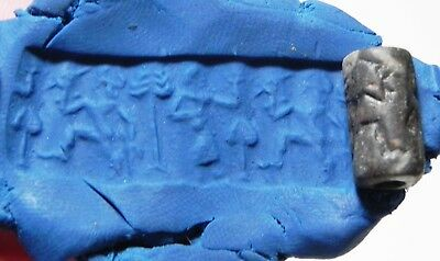 Zurqieh -As8714-  Ancient Holy Land, Canaanite Stone Cylinder Seal. 1400 B.c