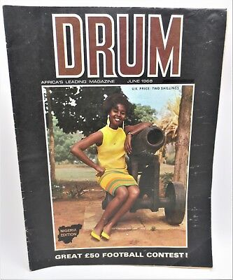 Vintage DRUM Africa's Leading Magazine June 1968 Great Football Contest Free S/H