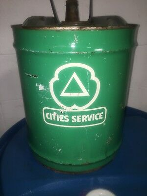 Vintage Cities Service 5 Gallon oil  Can, Very Nice