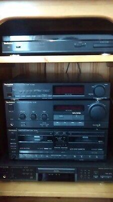 5 Piece Technics Hi Fi Stacking System With Speakers