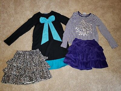 Hanna Andersson, girls 120 and 130, 4-piece lot, EUC
