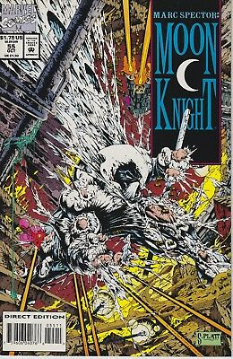 Marc Spector: Moon Knight #55 (1993, Marvel) NM-/NM 1st Platt Cover Actual Scans